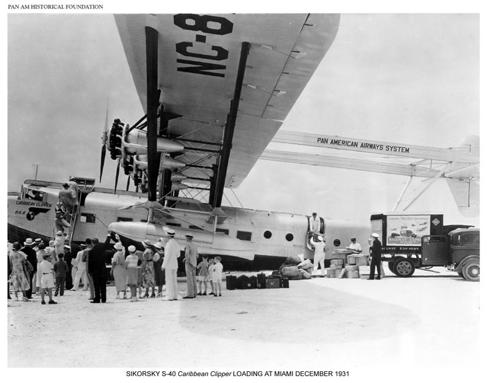 Pan Am S-40 loading passengers 1931