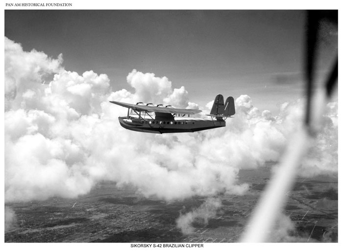 Pan Am Sikorsky S-42 in flight