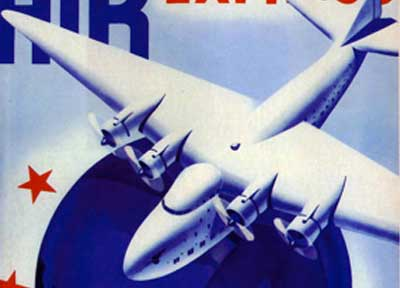 Pan American International Air Express poster detail, 1938