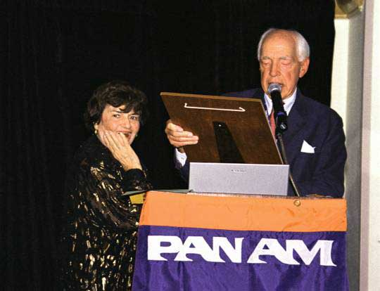 Mary Goshgarian award Pan Am Historical Foundation President Pete Runnette
