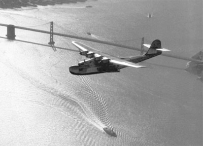 M 130 over San Francisco, by Clyde Sunderland