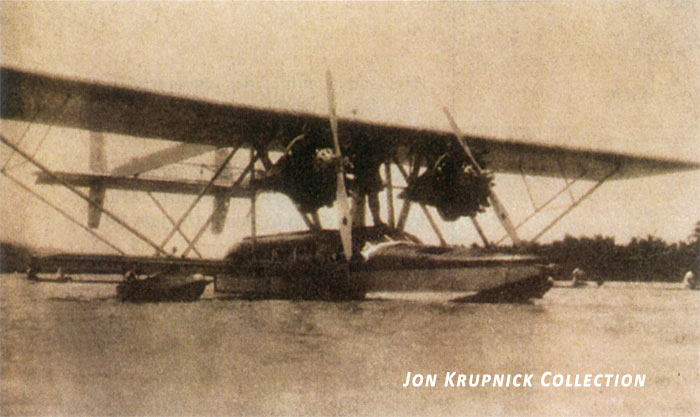 Jon Krupnick Collection Sikorsky s38 anchored in Agno River 1st American Plane to visit Philippines rsz