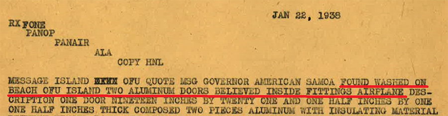 Doors Found Ofu Island, January 22, 1938