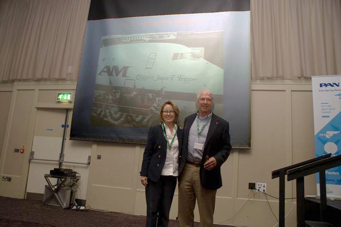 Ed Trippe Becky Sprecher Pan Am talk at Foynes Reunion Photo copyright Robert Genna