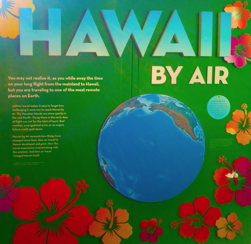 Hawaii By Air, Main Panel, Smithsonian Air and Space Exhibit