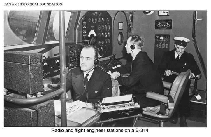 Pan Am Radio Flight Engineer Stations B 314