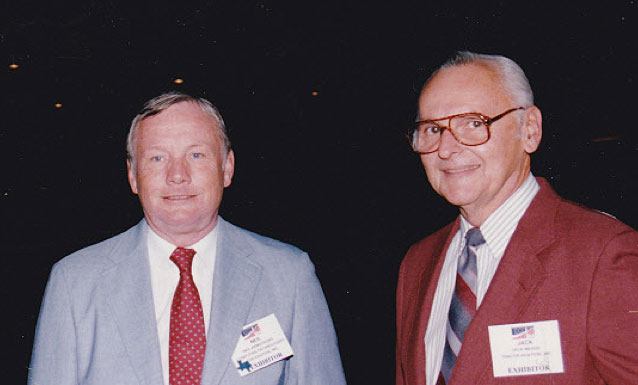 Jack Meade with Neal Armstrong