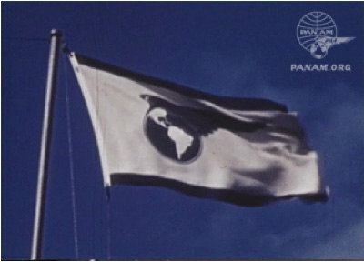 Pan Am Flag Waving Proudly 1940