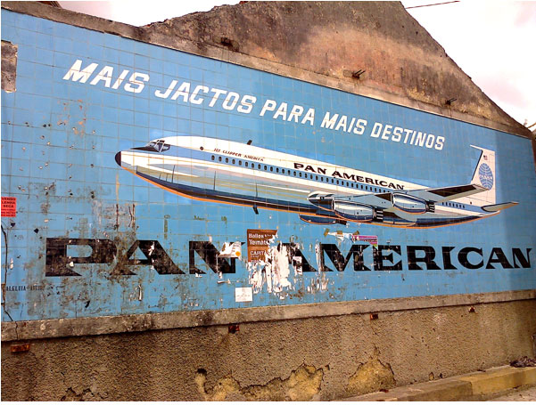 Pan Am Tile Advertisement in Costa do Valado, Portugal