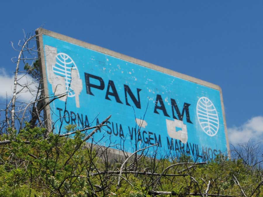 Pan Am billboard ad Serra de Aire Portugal