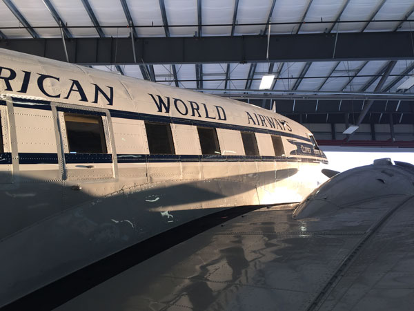 Tabitha May clipper right side in hangar