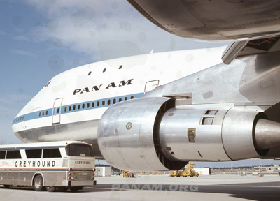 Pan Am Boeing 747 circa 1970 PAHF Collection courtesy AeroArt