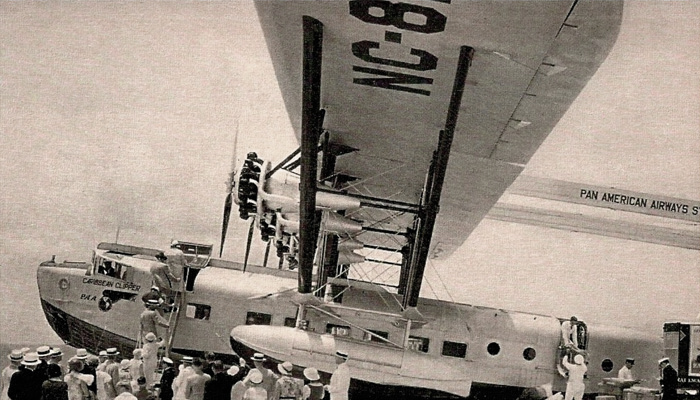 pan am sikorsky s40 clipper loading passengers at dinner key 1