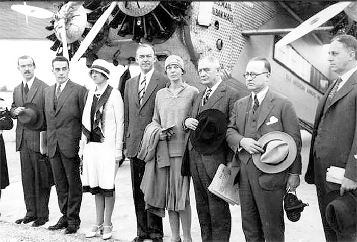 Dignitaries boarding for Havana from Pan American International Airport Dedication Ford Trimotor Cuba Havana