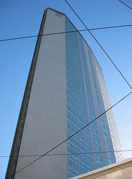 Pirelli Tower Milan similar to Pan Am Building New York City design