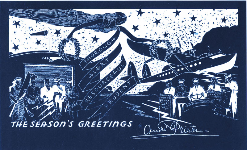 Pan Am Priester Greeting Card S 42