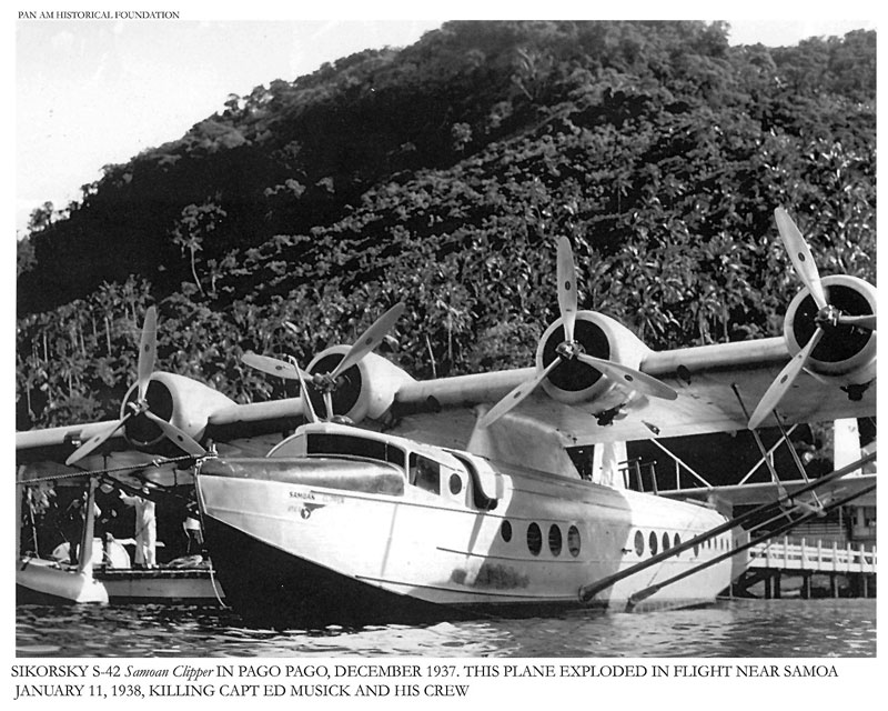 Pan Am Samoan Clipper in PagoPago S 42 before ill fated flight 01 11 1938