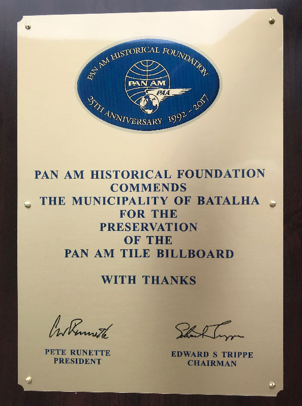 Pan Am Historical Foundation plaque