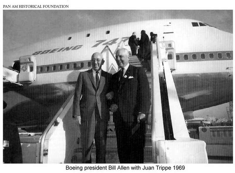 Pan Ams Juan Trippe with Bill Allen of Boeing in 1969