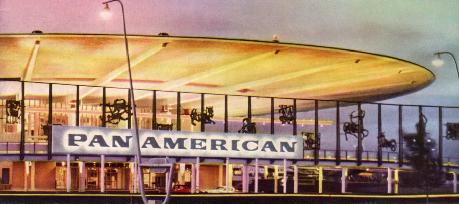 Pan Am Worldport image from Pan American World Airways annual report