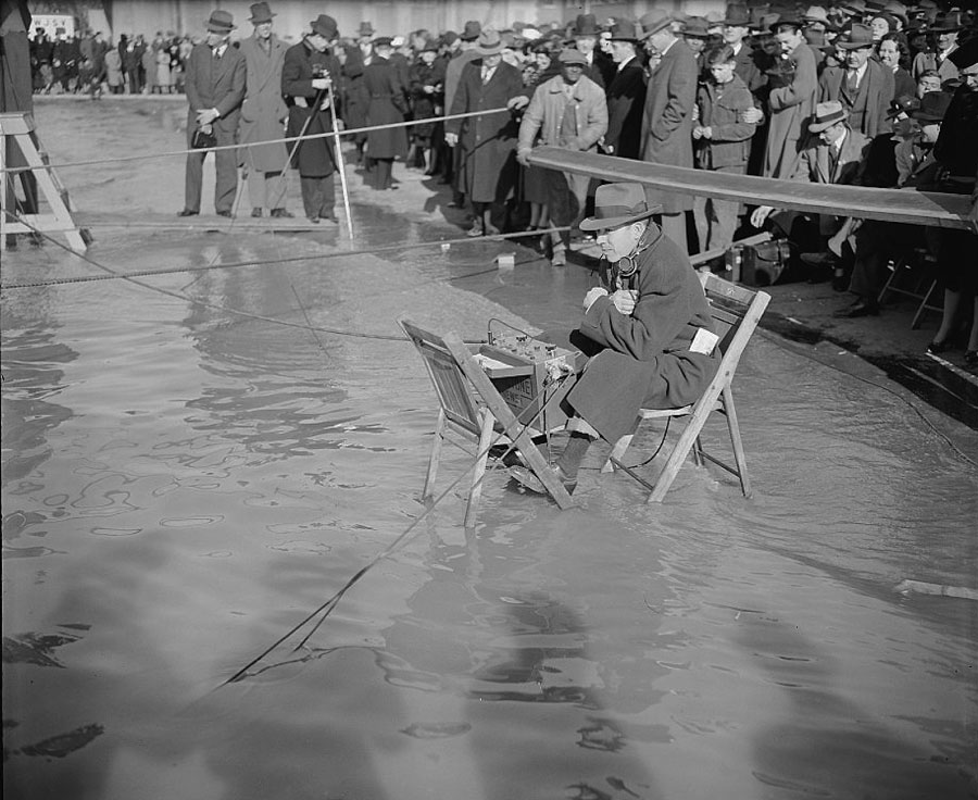 High Tide at Pan Ams Yankee Clipper Christening March 1939