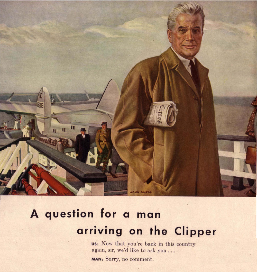 Question for Pan Am Clipper Passenger ad