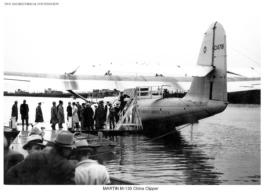 Loading the China Clipper through the top hatch