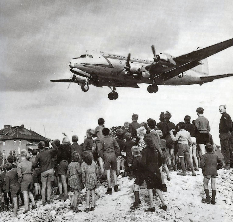 United States Air Force Historical Research Agency C 54 landing at templehof berlin