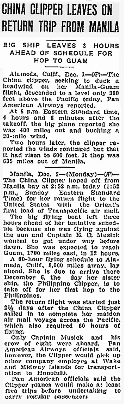 1China Clipper Leaves Manila