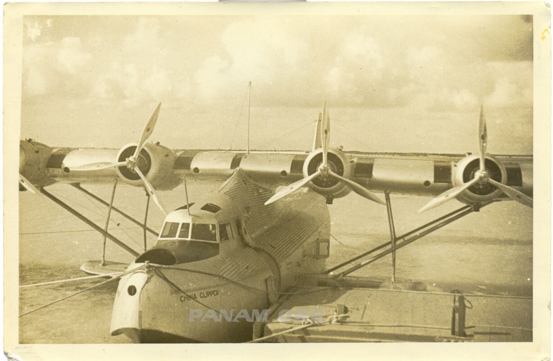 Pan Am M-130 China Clipper at Wake 1936 William Voortmeyer/PAHF Collection