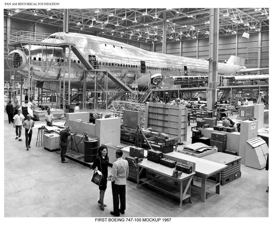 Pan Am Boeing 747 production mockup