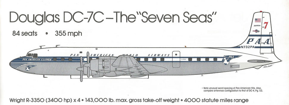 Douglas DC 7C 12 20 1955 Machat Drawing