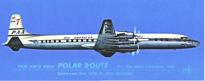 Pan Am Super Seven Ad Polar Route