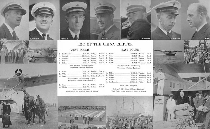 Pan Am photos and log of china clipper
