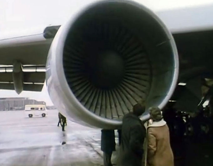Looking at a Pan Am Jumbo Jet