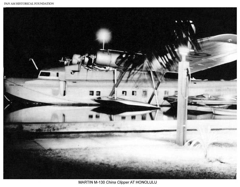 China Clipper docked at Pearl City Honolulu