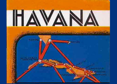 Detail from Pan Am Flight Brochure Havana Cuba 1932