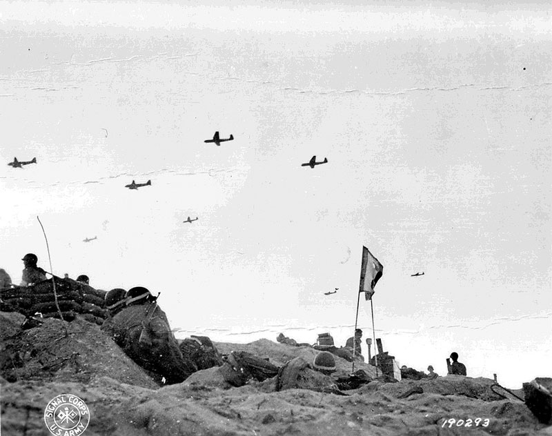 Towing gliders over Utah Beach