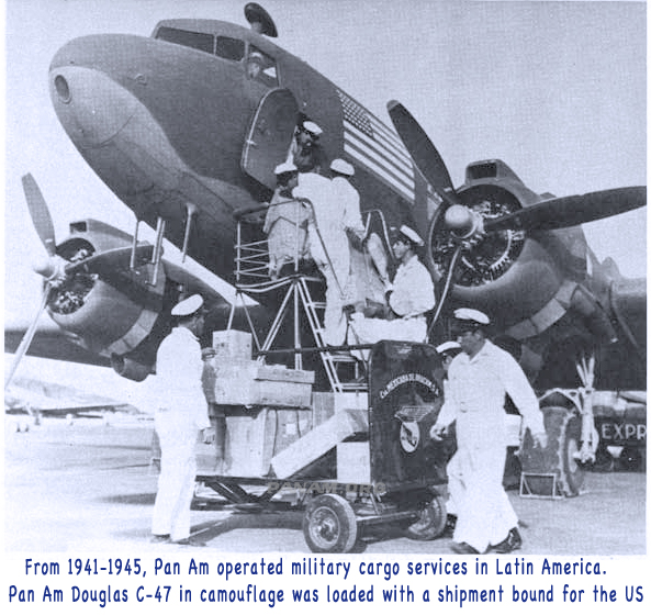Pan Am Camouflaged C 47 loaded in Mexico