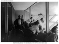 Juan Trippe and passengers in observation cabin of Zeppelin Hindenburg 1936