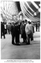 Juan Trippe with group on arrival in Rio on Zeppelin Hindenburg 1936