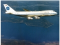 Pan Am Boeing 747 in flight, color photo