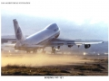 A Pan Am Boeing 747 takes off