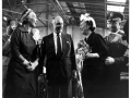 Christening celebration of the Boeing 707, Juan Trippe and  Betty Trippe with First Lady Mamie Eisenhower