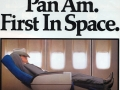 Pan Am Ad promoting comfortable seating: Pan Am First in Space