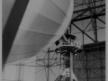 Zeppelin Hindenburg secured to mooring mast in Rio 1936