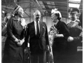Juan Trippe and Betty Trippe with First Lady, Mamie Eisenhower at Boeing 707 christening celebration, 1958