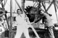 Juan Trippe and Charles Lindbergh on Sikorsky S-38