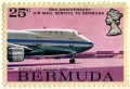 Pan Am on a Bermuda Stamp, 1970