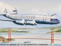 1947-Lockheed Constellation  Watercolors by John T. McCoy from the First Flight Series: June 29, 1947